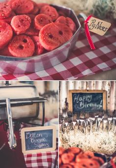 A Birthday Party for a Pig-Obsessed Boy Barnyard Party Food, Farm Party Foods, Farm Animal Party, Farm Animal Birthday, Pig Party, Pig Birthday Cakes, Baby Boy 1st Birthday Party, Birthday Ideas, Birthday Banners