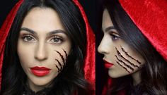 A chic Little Red Riding Hood look #Halloween #beauty #costumes