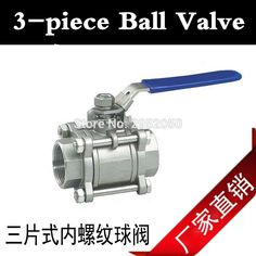 13.47$  Buy here - http://alitg3.shopchina.info/go.php?t=32802720047 - 1/2'' 3-piece Ball Valve Stainless Steel 304 homebrew hardware & plumbing fitting 13.47$ #shopstyle