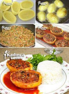 PATATES KARNIYARIĞI TARİFİ http://kadincatarifler.com/patates-karniyarigi-tarifi