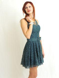 Mona Lisa Lace Dress - Sage
