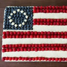 Flag Cake Recipe (From Scratch) | Brown Eyed Baker