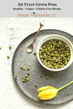 Learn how to make these yummy and healthy green peas in air fryer. These are great as a protein rich snack or as a salad topper. #airfryer #deepfried #greenpeasrecipe #plantbasedsnack #vegansnack #glutenfreesnack Air Fryer Recipes Vegan, Delicious Vegan Recipes, Healthy Salad Recipes, Yummy Food, Vegan Appetizers, Vegan Snacks, Appetizer Recipes, Healthy Snacks, Deep Fried Recipes