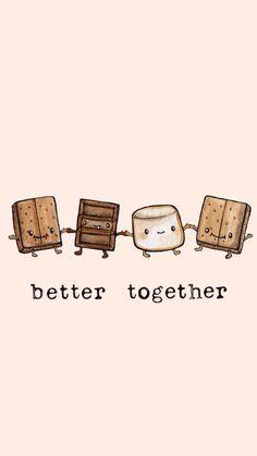 Sandwich chocolate marshmallows better together, iPhone cellphone wallpaper background lock screen s'more graham cracker Cute Food Wallpaper, Kawaii Wallpaper, Cute Wallpaper Backgrounds, Wallpaper Iphone Cute, Phone Backgrounds, Wallpaper Wallpapers, Cellphone Wallpaper, Animal Wallpaper, Wallpaper Ideas