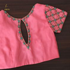 Latest designer blouse design - The handmade craft Hand Work Blouse Design, Simple Blouse Designs, Saree Blouse Neck Designs, Stylish Blouse Design, Latest Blouse Designs, Cut Work Blouse, Wedding Saree Blouse Designs, Designer Blouse Patterns, Dress Patterns