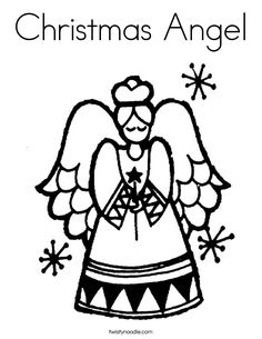The Girl Christmas Angel Coloring Page | color pages | Pinterest ...