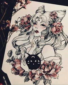 """Sailor Moon"" Fan art x Archival Fine Art Print Arte Sailor Moon, Sailor Moon Fan Art, Sailor Chibi Moon, Sailor Moon Tattoos, Illustrations, Illustration Art, Art Sketches, Art Drawings, Sakura Card Captor"