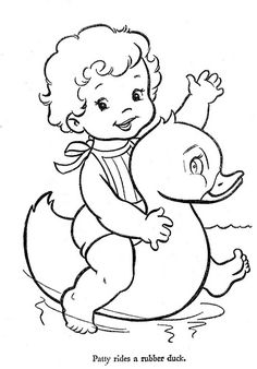 Hi-Flyer Color pg 25 | Flickr - Photo Sharing!  Sweet to see coloring pages from my childhood!