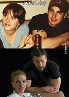 Friendship goals: Chris Evans and Scarlett Johansson