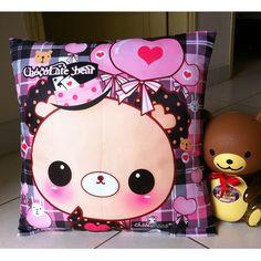 Kawaii bear cushion case - CC11   ChibiBunny - Home & Garden on ArtFire