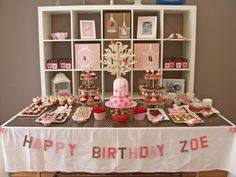 Birthday table display