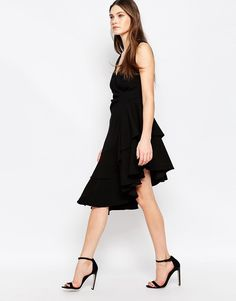 Immagine 1 di Studio 75 - Ella - Vestito a portafoglio asimmetrico