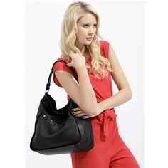 Street-Chic Splicing Leather OL #Shoulder Bag for Women Free Shipping