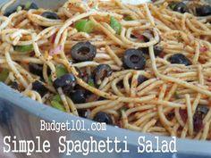 Spaghetti Salad- awesome potluck recipe