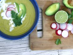 Mexican Avocado Soup - this recipe looks so creamy and delicious! I would use canned coconut milk or more avocado in place of the cream, for an easy, vegan dinner.