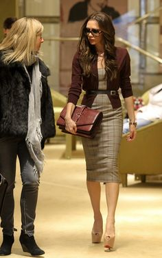 GIRL CRUSH. Yes Miss Becks... I am talking about you. fall work outfit by Victoria Beckham