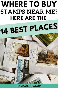 """Asking """"where to buy stamps near me?"""" must be a very baffling question, especially now when everything can be sent digitally. We got you, here are 14 of the best places where to buy stamps. Buy Postage Stamps, Sell Stamps, Save Money On Groceries, Ways To Save Money, Money Saving Challenge, Money Saving Tips, Financial Planning For Couples, Dividend Investing, Creating Wealth"""