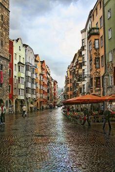 Innsbruck Rainy Day, Austria http://maupintour.com/countries/austria #travel #Austria