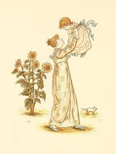 Little Ann, a book by Kate Greenaway 1880 - Plate 26