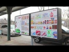 I want this for clothing, makeup and fragrance! / Virtual grocery aisles allow commuters to shop at the subway