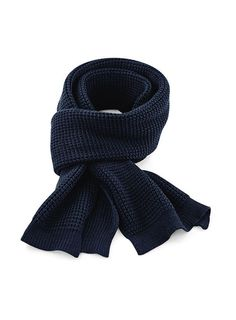 Classic Waffle Knit Scarf 100 Soft-Touch Acrylic Easily removable adhesive label Thick waffle knit Dimensions 175 x 28 cm Save Save Sleeping Tent, Winter Warmers, Waffle Knit, Cloth Bags, Ripped Jeans, Mesh, Colours, Unisex, Navy