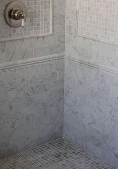 Trouvais shower tile pattern