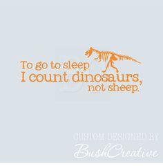 Dinosaur Nursery Decal Wall Lettering Wall Art by bushcreative, $18.00