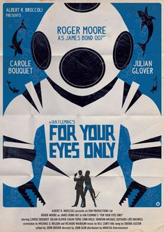 James Bond Poster Art | james bond vintage fan art illustrations For Your Eyes Only