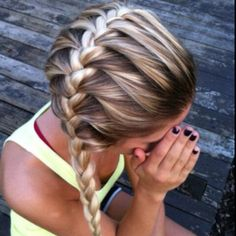 Gorgeous fish tale plait
