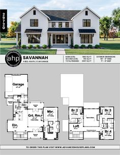 This story, modern farmhouse plan boasts a unique layout. Sims House Plans, New House Plans, Dream House Plans, Modern House Plans, Modern House Design, Unique House Plans, Modern Farmhouse Exterior, Modern Farmhouse Style, Modern Farmhouse Floor Plans