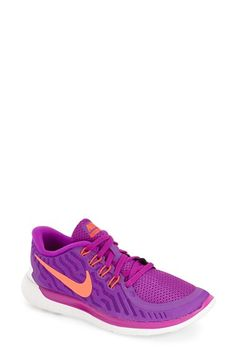 Nike 'Free 5.0' Running Shoe (Women) available at #Nordstrom Size 7 in Black/Grey/White