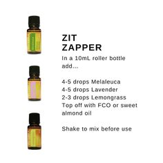 An effective & fast essential oil blend that works on blemishes!