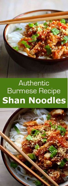 Shan noodles are an easy Burmese recipe where chicken or pork cooked in tomatoes, is served over a bed of rice noodles, sometimes served with broth. #burma #myanmar #196flavors