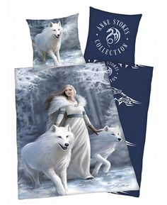 This beautiful Anne Stokes Wolves Single Duvet Cover and Pillowcase Set is reversible and made from 100% cotton.