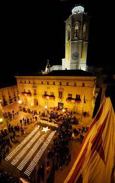 Estelada amb Espelmes - Encén la Flama a Cervera 5 de febrer del 2013 #estelada #catalunya #cervera