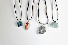 Wire wrapped jewelry makes a great DIY gift for family  friends. Use unique found objects. These are beautiful layered too. Easy to make with very little cost. A great way to personalize your own wardrobe too. If you are on a tight budget this is a great way to give something personalized, beautiful  unique without breaking the bank.