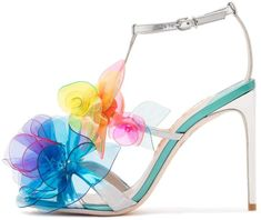 Sophia Webster Jumbo Lilico Sandal in Silver Multi Sophia Webster Shoes, Embellished Sandals, Candy Colors, Look Fashion, Creative Design, Pop Art, Vibrant Colors, Product Launch, Footwear