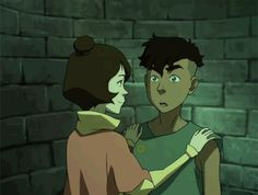 Jinora and Kai kiss :*