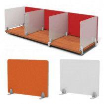 Enclave Frameless Desk Dividers Desk Dividers Diy Room Divider Privacy Panels