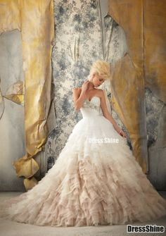 Wonderful Perfect Wedding Dress For The Bride Ideas. Ineffable Perfect Wedding Dress For The Bride Ideas. Ombre Wedding Dress, Wedding Dress Styles, Designer Wedding Dresses, Bridal Dresses, Wedding Gowns, Bridesmaid Dresses, Ombre Gown, Wedding Events, Gown Designer