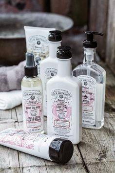 Organic skin care from J.R. Watkins. Beautiful design!