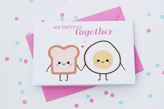We Belong Together carte je t'aime carte par hannahdoodle sur Etsy