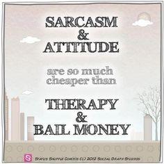 sarcasm & attitude ♥