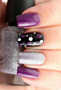 And these sexy Latest Easy Nail Art Designs for Short Nails 2016 will make your cute nails the next most beautiful thing on earth after you. Latest 45 Easy Nail Art Designs for Short Nails 2016 See more: Nail Art Designs 2016, Purple Nail Designs, Simple Nail Art Designs, Gel Nail Designs, Nails Design, Trendy Nail Art, Easy Nail Art, Nagellack Design, Polka Dot Nails