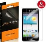 SUPERSHIELDZ- High Definition (HD) Clear Screen Protector For LG OPTIMUS F3   Lifetime Replacements Warranty [6-PACK] – Retail Packaging