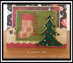 Cricut Inspired Handmade Cards: Grungeboard Christmas Tree Card #59