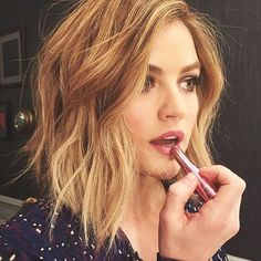 #Regram mark. Celeb Makeup Artist @kdeenihan: Purple dress calls for @markgirl mauvelous on those lips! Obviously.  @lucyyhale -markgirl Instagram   Get All Butter Now #lipstick http://avon4.me/1L11cw5