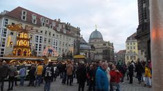 At the Christmas Market at the Frauenkirche.