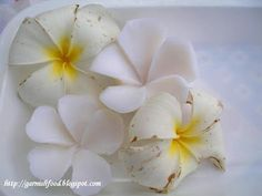 frangipani soap carving