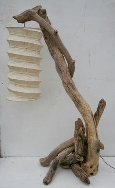 Driftwood Floor lamp, Drift wood floor standing lamp, Driftwood Lamp. £185.00